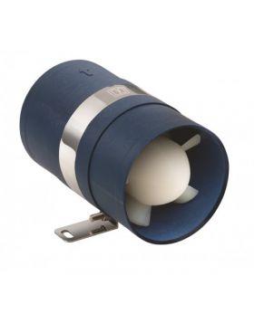 Inline motor-rums-ventilator 12V, Ø102 mm slange