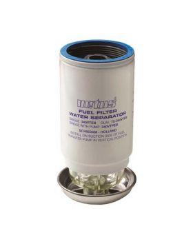 Udskiftning brændstoffilter element CE / ABYC, 10 micron, max 42 gph (190 l / h) - blå