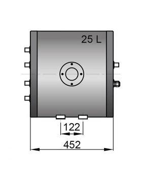 Twin coil calorifier 25 litre