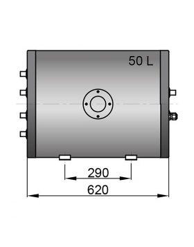 Twin coil calorifier 50 litre
