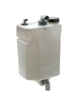 25 liter lodret monteret spildevandstank til skotmontering - 235 x 665 x 440 mm