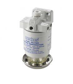 Vandudskiller / brændstof filter med udluftning CE / ABYC, single, 10 micron, 190 l