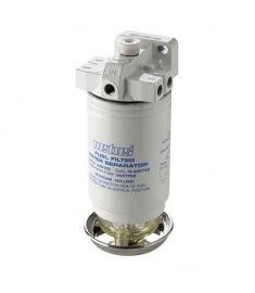 Vandudskiller / brændstof filter med udluftning CE / ABYC, single, 10 micron, 380 liter/time