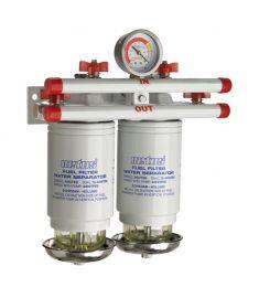 Vandudskiller / brændstof filter CE / ABYC. dobbelt. 10 micron. 380 l