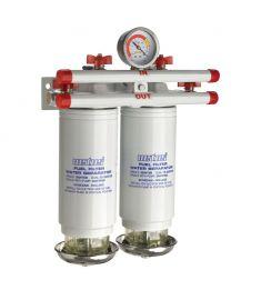 Vandudskiller / brændstof filter CE / ABYC. dobbelt. 10 micron. 460 l