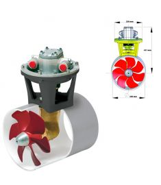 Hydraulisk bovpropel 230 kgf incl. hydraulikmotor 12,5 kW, for tunnel diameter 300 mm