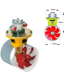 Hydraulisk bovpropel 55 kgf incl. hydraulikmotor 3,5 kW, for tunnel diameter 150 mm