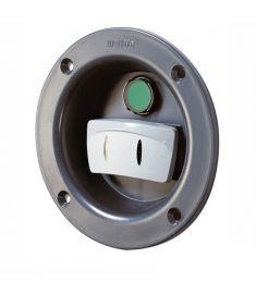 Bovpropel betjeningspanel sidemonteret med vippekontakt, Ø102 mm