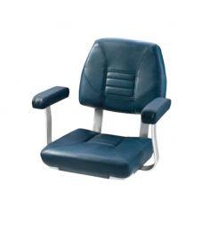 Skipper. Klassisk styrestol med komfortable armlæn, mørkeblå