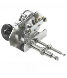 Heavy duty viskermotor, 12V, 75W - lang aksel