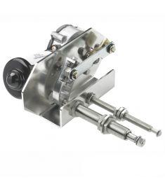Heavy duty viskermotor, 24V, 75W - lang aksel