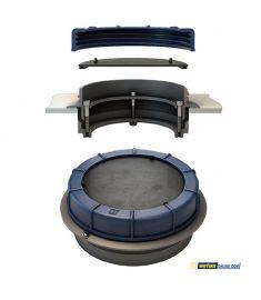 Inspektionsluge med flange-i-ring design - innovativ universal luge til diesel