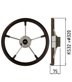 Polyuretan rat type KS - Ø32 cm - Sort
