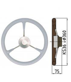Polyuretan rat type KS - Ø36 cm - Grå