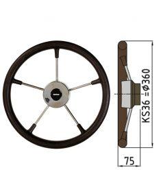 Polyuretan rat type KS - Ø36 cm - Sort