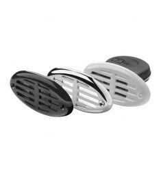 Indbygningshorn - 12 Volt - Leveres med hvid, sort og forkromet kappe