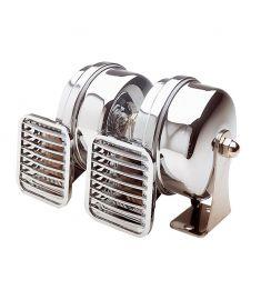 Kompakt horn dobbelt - 12 Volt - høj og lav tone 500/410 HZ