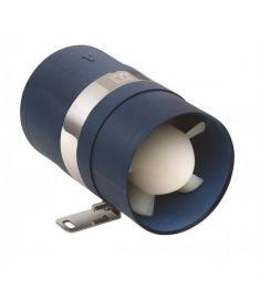 Inline motor-rums-ventilator 12V - Ø75 mm slange