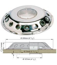 Dæksventil type UFO TRANS med transparant glas og inderkappe
