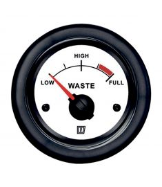 Waste level white 12/24 V
