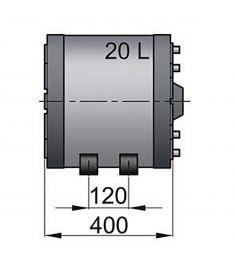 20 liter Vetus vandvarmer / varmtvandsbeholder til båden, rustfri og top isoleret