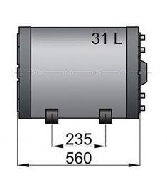 Dobbelt væggede kaloriferer type WHD 31 litre