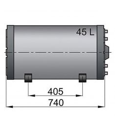 45 liter Vetus vandvarmer / varmtvandsbeholder til båden, rustfri og top isoleret