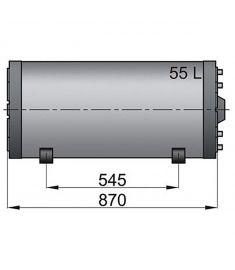55 liter Vetus vandvarmer / varmtvandsbeholder til båden, rustfri og top isoleret