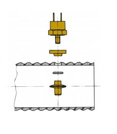 Sensor for udstødningstemperaturalarm, til montering i slange