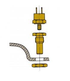 Sensor for udstødningstemp til montering i lyddæmper